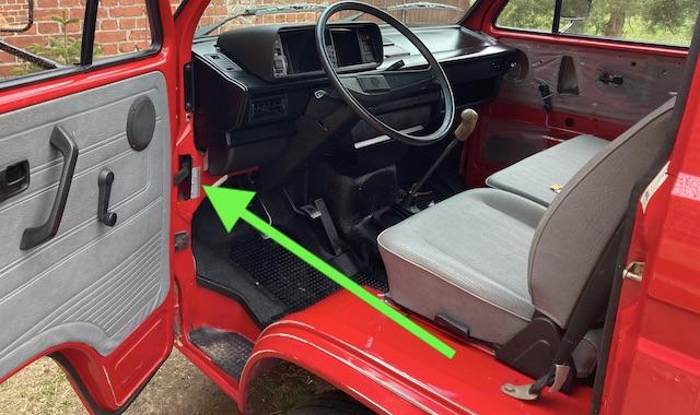 Aufkleber Reifenfülldruck Sonderdruck für Transporter VW T3 A Säule