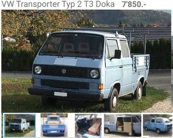 Inserat VW Bus T3 DoKa Kaufberatung BusChecker