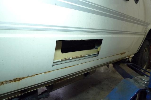 Karosseriesicke VW Bus T3 Küchenseite wenig Rost aussen