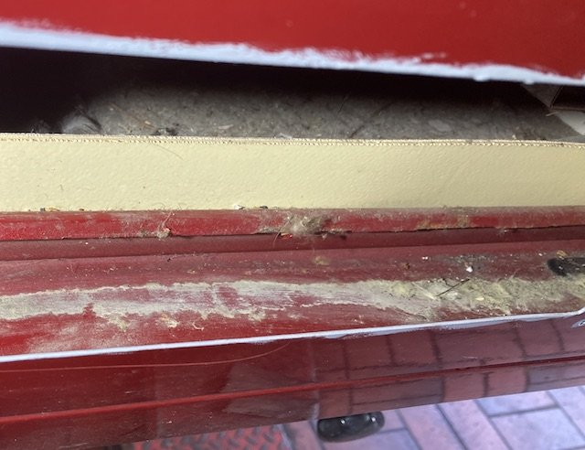 Karosseriesicke hinter Kühlschrank VW Bus T3 Westfalia Zustand perfekt