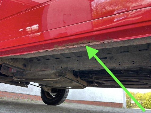 Rost am VW Bus T3 Schwachstellen Holm unterhalb Seitenteil Fahrerseite