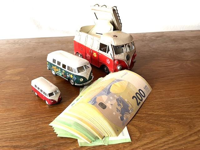 Sparschwein geknackt VW Bus kaufen