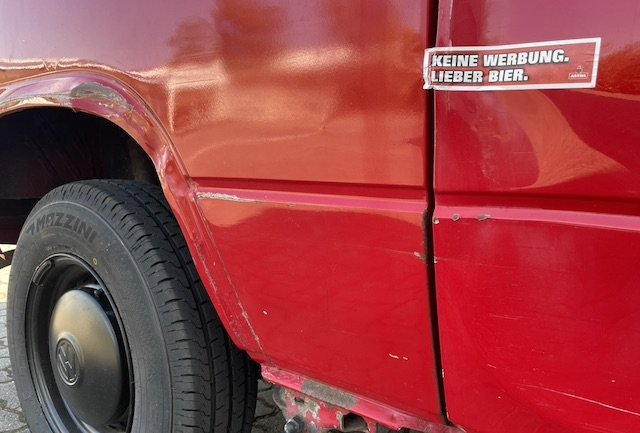 VW Bus Blech ausbeulen Beulendoktor