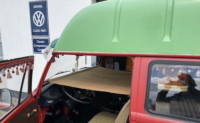 VW Bus Kinderbett vorne Spanntuch Erfahrungen