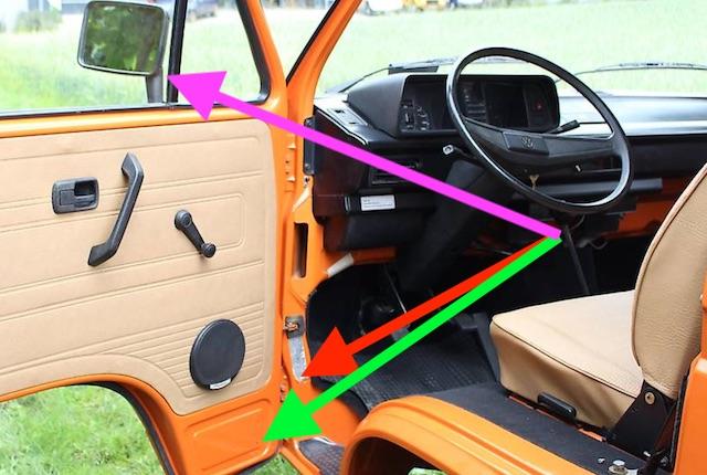 VW Bus T3 Doka Blender frisch lackiert