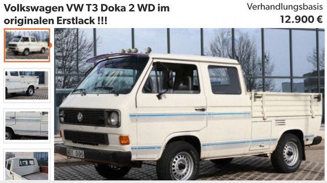 VW Doppelkabine T3 guter Zustand zu kaufen gesucht