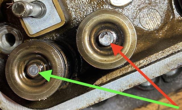 Ventilschaft Auflage Hydrostössel beschädigt