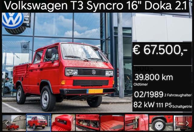 Wertanlage VW Bus T3 DoKa Syncro 16 Zoll Tri Star